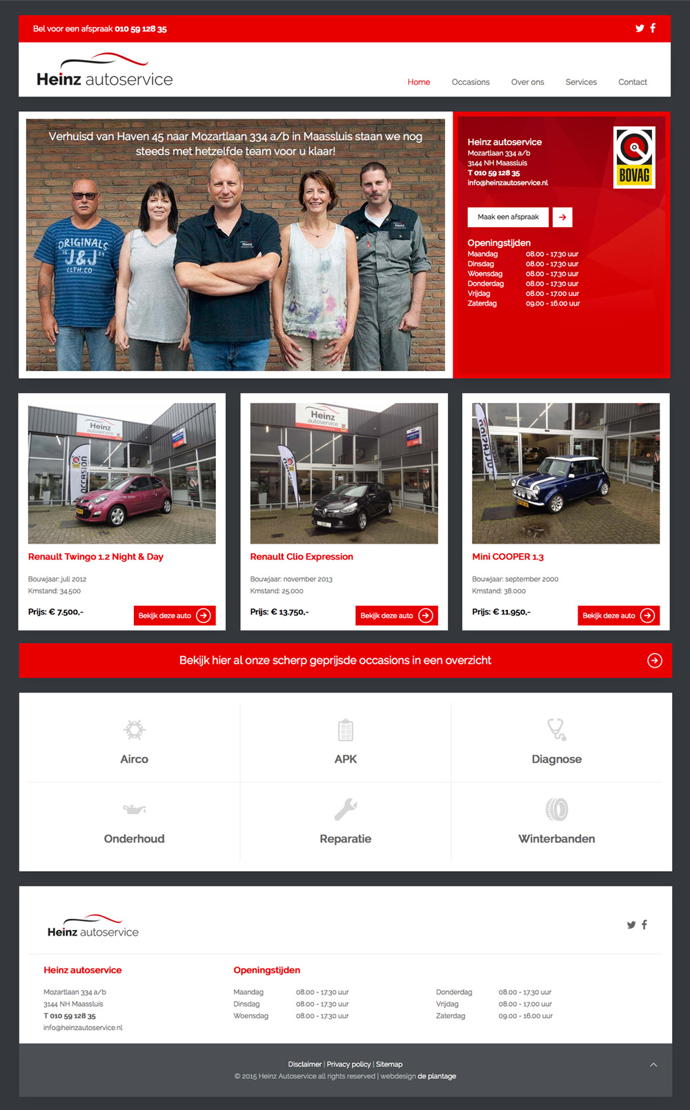 website homepage heinz autoservice