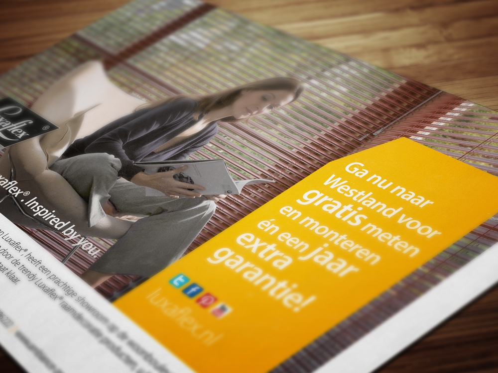advertentie Luxaflex